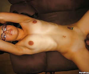 Amateur Asian babe Andrea Kelly exposes her tiny tits and has sex