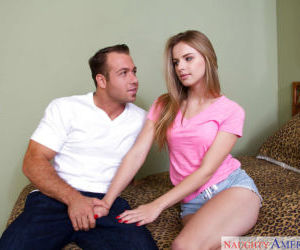 Amateur teen Jillian Janson learns how to do proper blowjob for BF