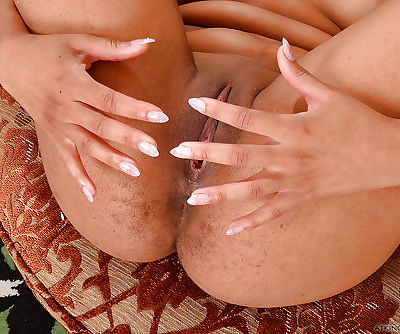 Amazing nudity solo masturbation show along nud ebony Loni Legend