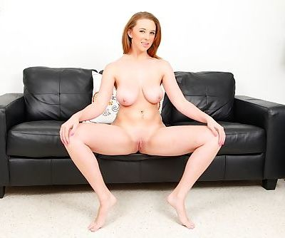 Buxom young babe Brooke Wylde flashing her large natural breasts