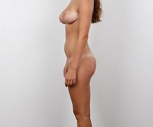 Sarka of the pretty face gets herself photographed naked for a casting call