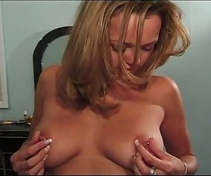 Busty first timer revealing pierced nipples and hairy vagina