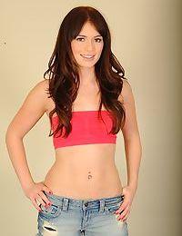 Skinny brunette amateur Ashlyn Rae is showing her fabulous body