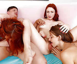 Teens Willow Hayes- Emma Evins and Violet Monroe get hairy twats fucked