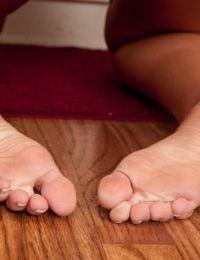 Blonde amateur Val Dodds stripping naked and fingering butthole