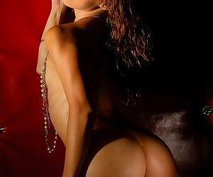 Petite amateur babe Gigi Rivera exposing flat Latina chest