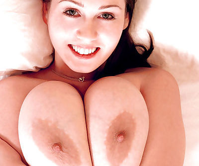 Amateur MILF Nicole Peters flashing huge hooters before baring hairy vagina