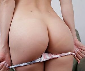 Young flaxen-haired piece of baggage shows off her meaty labia lips increased by clit after undressing