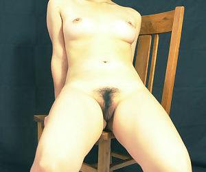 Exotic Jap girl Ai loosing beaver from latex skirt after baring natural tits
