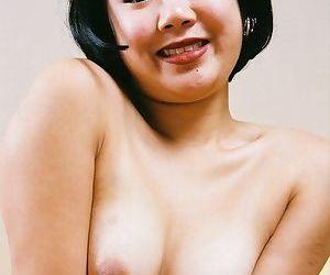 Asian amateur Junko flashing hairy upskirt pussy beneath panties
