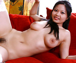 Cute Asian first timer Ayane revealing perfect young girl breasts