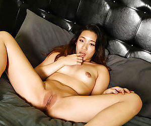 Amateur Asian girl Meiko undresses and starts to masturbate on the cam