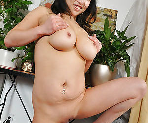 Undressing scene with horny amateur Asian beauty Alexis Lee