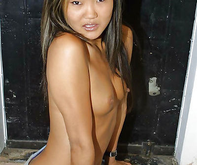 Sensual Asian babe Lucylee love to feel herself naked on the camera