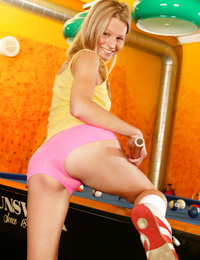 Undressing scene features skinny teen babe Mia B in close up