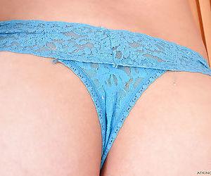 Petite Asian amateur Mila Jade flashing her upskirt underwear