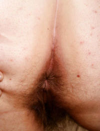 Glasses topped mature fatty with hairy underarms revealing hairy vagina