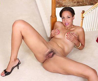 Latina mom Josephine Jones showing off nice ass in thong clad panties