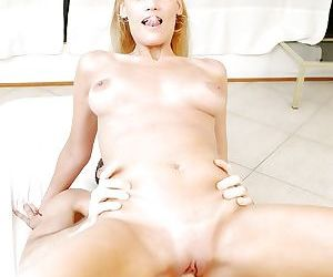 Slutty latina blonde gets her tight cherry hole drilled hard