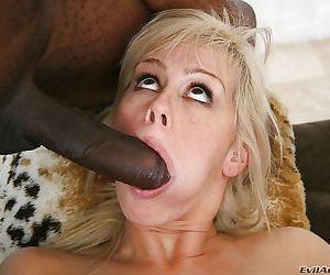 Cool interracial groupsex makes a different person out of Tara Lynn