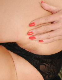 Slim mature doxy slowly undressing and exposing her inviting holes
