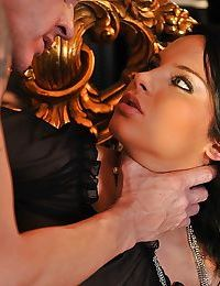 Hot brunette babe Bettina Dicapri gets her asshole drilled hardcore
