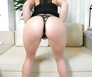 Young anal slut Lina strips and fucks her butthole with 3 toys at once