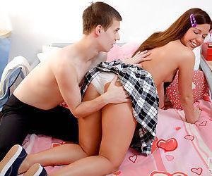Young schoolgirl Amanda is coerced into having sex by her horny boyfriend
