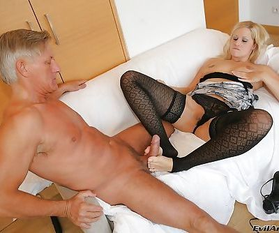 Sandra De Marco gets her asshole stretched by fingers and anal toys