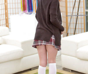 Schoolgirl Alice Still wet behind the ears shows wanting her not quite legal sexy body