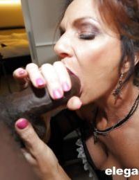 Chesty mature woman Deauxma takes a BBC in her asshole after giving blowjob