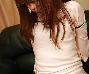 Asian teen in pantyhose undressing and exposing the brush boring c manufactured in resolve up