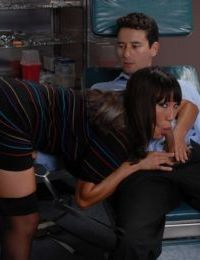 Famous Asian pornstar Ava Devine seduces her dentist in his dental chair