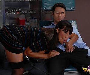 Famous Asian pornstar Ava Devine seduces her dentist in his dental chair