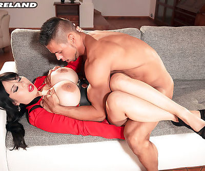 Legendary big tit Asian MILF Tigerr Benson gets her pussy drilled by a stud