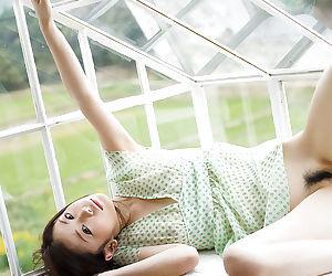 Pretty asian teen babe Takami Hou rapine not present her dress