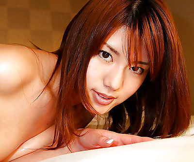 Foxy asian babe with sexy ass Nanami Wakase slipping off her lingerie
