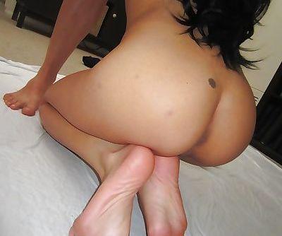 Oriental ex-gf Jayden Lee licking and jerking off long cock in the nude