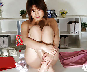 Interesting asian office babe Mai Haruna levelling not present her clothes