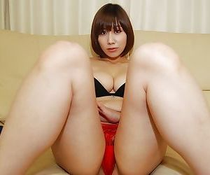 Leader asian cutie just about strigous cunt undressing and spreading will not hear of hooves