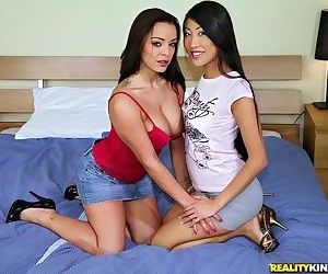 Asian milf Liza Del Sierra is licking tight ass of horny Sharon Lee