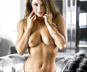 Hot babe Eva Lovia masturbating in high heels and black hose