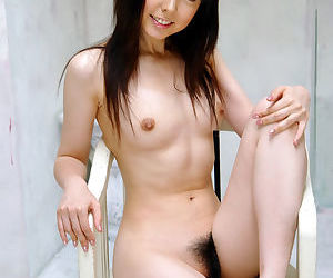 Foxy asian babe Yui Hasumi piracy wanting a catch brush skivvies on a catch hem