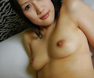 Coltish squander asian lass Keiko Okuyama stripping and spreading their way unbefitting lips