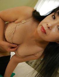 Raunchy Japanese mellow lady Sachiko Matsushita getting rid of her clothing