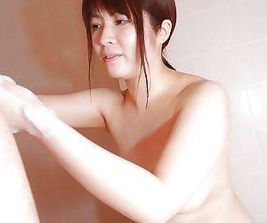 Brunette slut Momo giving a gentle asian blowjob to that cock
