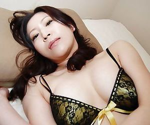 Asian brunette milf Miharu Suga smiles to that sexy opportunity