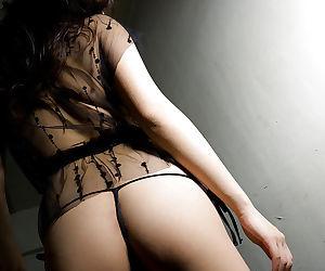 Asian babe in stockings Mai Nadasaka showcasing her tempting curves