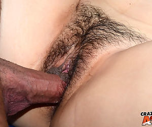 Asian first timer Nari Park gets her hairy pussy banged by her boyfriend