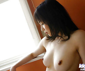 Tempting asian babe with hairy pussy Kanan Kawaii changing her underwear
